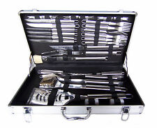 Bentley 32Pc Stainless Steel Bbq Utensil Set Barbecue Tool Kit Cutlery In Case