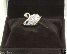"""AUTHENTIC PANDORA""""Majestic Swan, Clear CZ, 791732CZ      #165"""