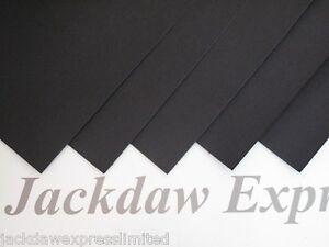 20 x A4 Quality Black Matt Cardstock 300gsm Card Cardmaking Scrapbooking AM64