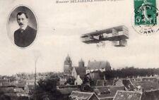 France Argentan Aviation Leon Delagrange in Flight Old Postcard 1909