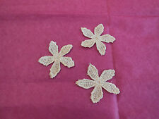 3 pcs Beige little floral lace Applique/ lace motif are for sale in 4.6cm