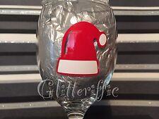 x10 SANTA HAT Festive Vinyl Decal Sticker DIY Christmas Glitter Wine Glass