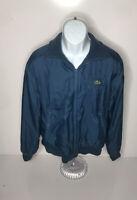 Vtg Lacoste Izod Reversible Jacket Mens L Distressed Blue Hip Hop
