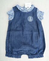 BNWT NEXT Baby Girls 2 Piece Romper All In One & Matching Bodysuit Newborn 10lbs