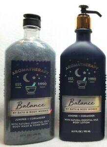 Bath Body Works Aromatherapy BALANCE Juniper + Coriander 2 pc set lot bundle