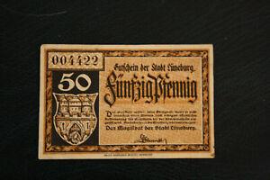 German Notgeld, Luneburg, 50 pfenning