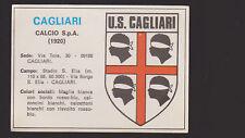 FIGURINE EDIS CALCIATORI 1977 78 N. 401/402 SCUDETTO CAGLIARI BADGE