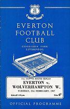 Everton Home Teams C-E Football FA Cup Fixtures