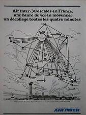 6/1979 PUB COMPAGNIE AERIENNE AIR INTER AIRLINE RESEAU AERIEN FRENCH AD