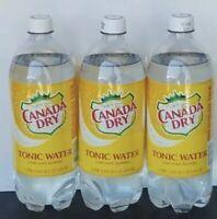 Quinine Canada Dry Tonic Water Lot Of (3) 1 liter Bottle like Schweppe's Fresh