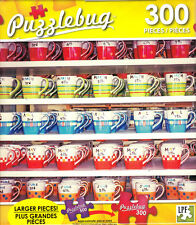 NEW Puzzlebug 300 Piece Jigsaw Puzzle ~ Rows of Colorful Coffee Cups