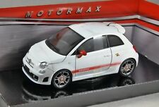 FIAT ABARTH 500 in White - 1/24 scale model by MotorMax