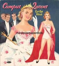 VINTGE 1950s CAMPUS QUEEN PAPER DOLL HD LASER REPRO~LO PRICE~HI QUAL~TOP SELLR