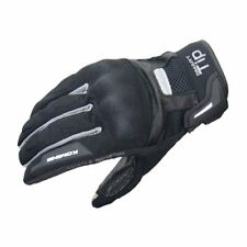 KOMINE. GK-131 PROTECT M-GLOVES-BROCCA BLACK/SILVER M-size. NEW