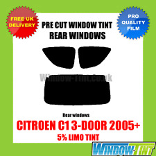 CITROEN C1 3-DOOR 2005+ 5% LIMO REAR PRE CUT WINDOW TINT