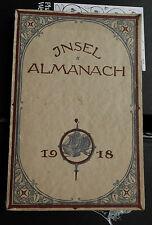 Insel-Almanach auf das Jahr 1918 (Hofmannsthal, Rilke, Ehrenstein, Däubler)
