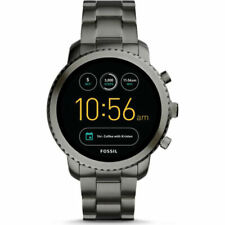 Fossil Q Explorist Gen 3 45mm Smoke Stainless Steel Smartwatch  FTW4001 NEW NR!!
