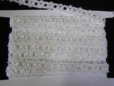 10 MÉTRES Ruban DENTELLE LYCRA  SATINÉ  BLANC H: 1.5cm    LINGERIE RUBAN MARIAGE