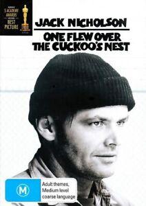 One Flew Over the Cuckoo's Nest DVD NEW (Region 4 Australia) Jack Nicholson