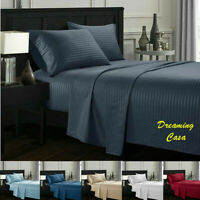 king size sheets Deep Pocket Bed Sheet Set Fitted Flat sheets 1800 Count L2
