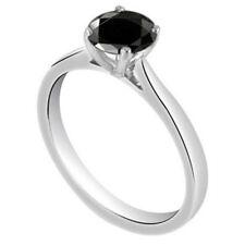 Diamond-Unique Solitaire Black Diamond 9ct Gold Ring 1ct Engagement Ring