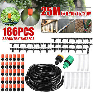 25M Misting Spray System Patio Cooling Water Summer Outdoor Evaporative Garden