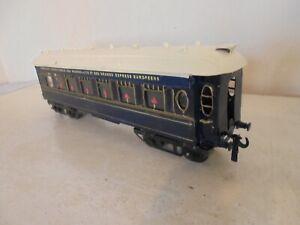 "Hornby""O""- No.2 Spl. Pullman Coach repainted as Wagon-Lits Dining Car-good/unbxd"