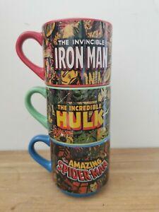 Iron man, spider man, the hulk Marvel Mug Set