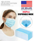 100 PCS Blue Face Mask Mouth & Nose Protecting Families Easy Safe WholeSale