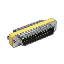 25 Pin Male Male Parallel DSUB Gender Changer Adapter UK