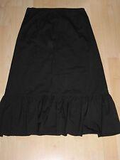 NWT JCrew Cotton Sateen Ruffle A-line Skirt Black 8