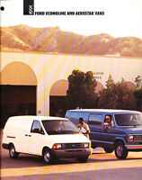1991 Ford Econoline and Aerostar Cargo Van Original Car Sales Brochure Catalog