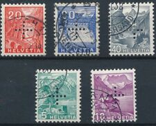 [56725] Switzerland Official 1937 lot 5 good Used Very Fine perforated stamps