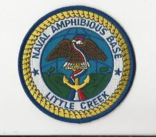 US NAVY PATCH - NAVAL AMPHIBIOUS BASE, LITTLE CREEK
