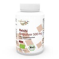 Vita World Reishi Pilz Pulver Bio Qualität 500mg 120 Kapseln Ganoderma Ling Zhi