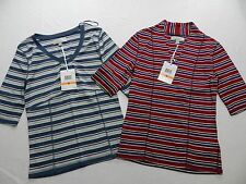 $60 new - WOMENS lot of 2 striped SHIRTS TOPS = CAROLYN TAYLOR = SMALL = de40