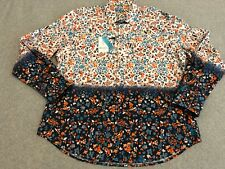 "NWT Robert Graham Exclusive ""Sea Rose"" Long Sleeve Button Up Shirt Men's 2XL XXL"
