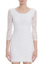 """NWT $325 Diane Von Furstenberg  DVF """"Zarita Scoop"""" Dress in White 4"""