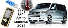 Teléfono móvil GSM mando a distancia para calefacción stand (USB) VW t5 Multivan 2012 GPS opción