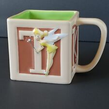 Disney Store Coffee Mug Tinker Bell Square Block 25th Embossed Anniversary Cup