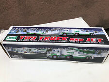 2010 HESS TOY TRUCK and JET - Sound Features, Real Lights LED Runway,box is dmgd