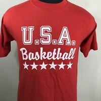 VTG Dream Team T Shirt US Basketball Tee 80s 90s 50/50 Single Stitch USA Small