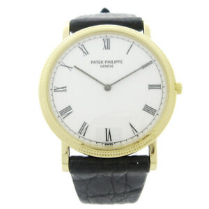 PATEK PHILIPPE Ref.3520/D Calatrava Manual-winding Wristwatch Watch K18 30048