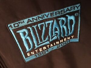 10th Anniversary of BLIZZARD 1991-2001 Employee Jacket XL -wear to Blizzcon 2019