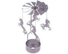 Christmas Tree Rotary Spinning Silver Tealight Candle Holder Novelty Gift Spin04