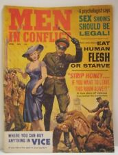 Old 1965 Men in Conflict Magazine Nude Pin Up * Eat Human Flesh * German Soldier