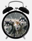 """Siberian Husky Alarm Desk Clock 3.75"""" Home or Office Decor E415 Nice For Gift"""