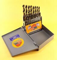 Drill Hog® 21 Pc Jr Drill Bit Set Index HI-Molybdenum M7 MOLY Lifetime Warranty