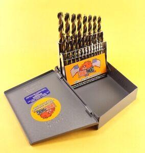 Drill Hog® 21 Pc Jr Drill Bit Set Index HI-Molybdenum M7 MOLY Lifetime Warranty