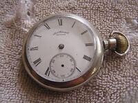 Antique American Waltham Pocket Watch Lever Set Silveroid Case